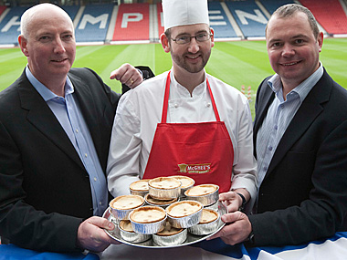 Mcghee's launch new low fat pie.