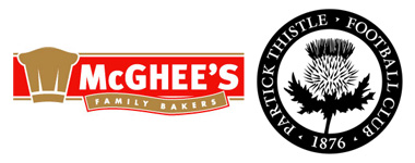 McGhee's Bakery sponsers Partick Thistle